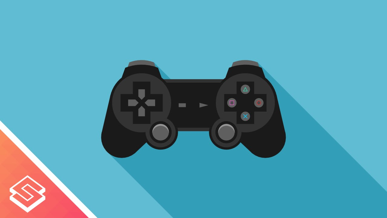 Vector Drawing Lines Xbox One : Inkscape tutorial vector playstation controller youtube