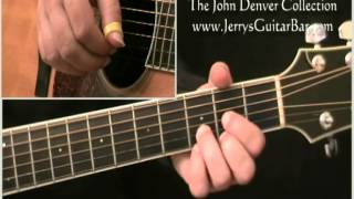 How To Play John Denver Leaving On a Jet Plane