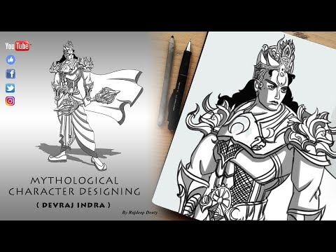 DevRaj Indra | Character Designing | Drawing