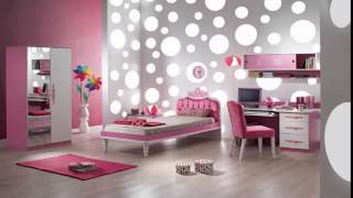Bedrooms and a pink and gray غرف نوم وردي ورمادي