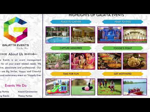 Galatta Events|Profile|Event management in chennai