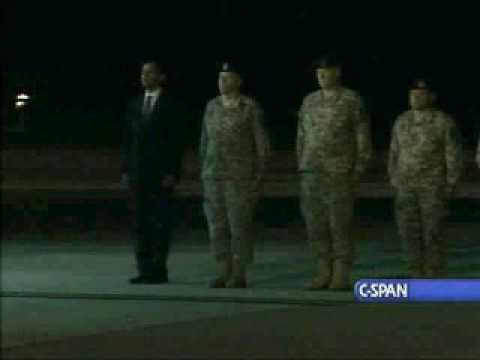 Pres. Obama at Dover AFB Honors Fallen Soldiers