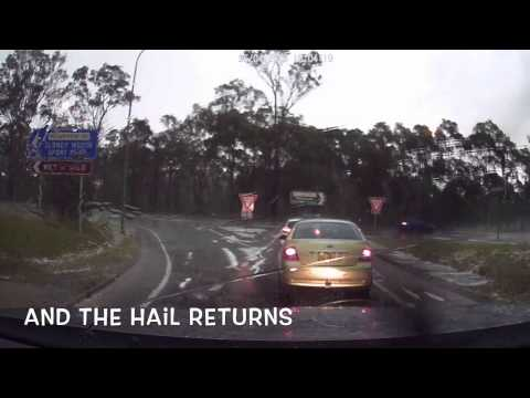 Massive Hail Storm in Sydney 25.04.2015. Caught on Motorway