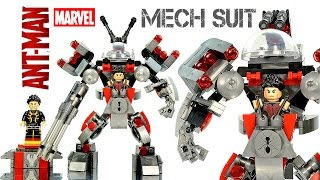 Avengers Ant-Man Mech Suit vs Yellow Jacket LEGO KnockOff Building Set Speed Build