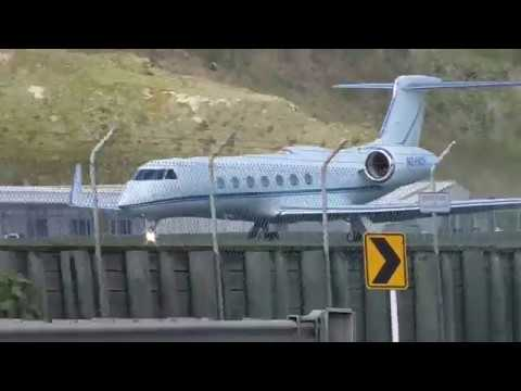 Gulfstream 550 | Taxi & Takeoff | Wellington Intl Airport