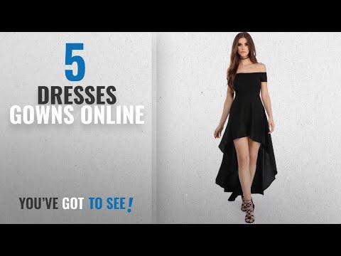 Top 10 Dresses Gowns Online [2018]: Boldgal Women's Western Short wear Off Shoulder Dress (Black)
