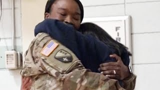 Sergeant Mom Surprises Freshman Daughter During Gym Class