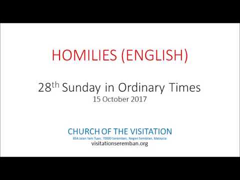 28th Sunday in Ordinary Times - English