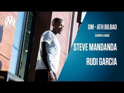 OM - Athletic Bilbao | La conférence de Rudi Garcia & Steve Mandanda