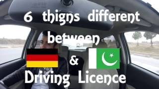 Difference b/n German & Pakistani Driving Licence
