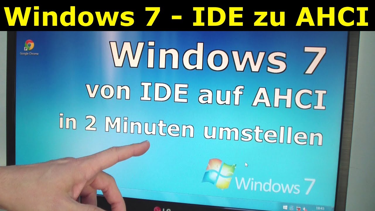 windows 7 ide auf ahci umstellen youtube. Black Bedroom Furniture Sets. Home Design Ideas