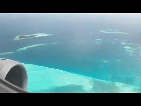 MLE HD Qatar Airways A320 Landing Business Class Male Maldives International Airport Airbus
