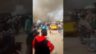 Fire Accident Occur At Shibiri Ojo, Lagos