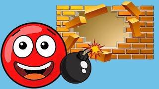 Новый КРАСНЫЙ ШАР #1.1-3 УРОВНИ. Мультик ИГРА New Red Ball 2