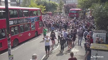 "EarthCam Captures Abbey Road 50th Anniversary: John Lennon's Car, Crowd Sings ""Hey Jude"""