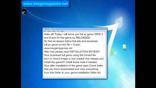 GRID 2 Torrent Game For Free + Crack by RELOADED