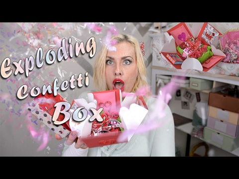 Explosion Box Confetti Exploding Step by Step Tutorial