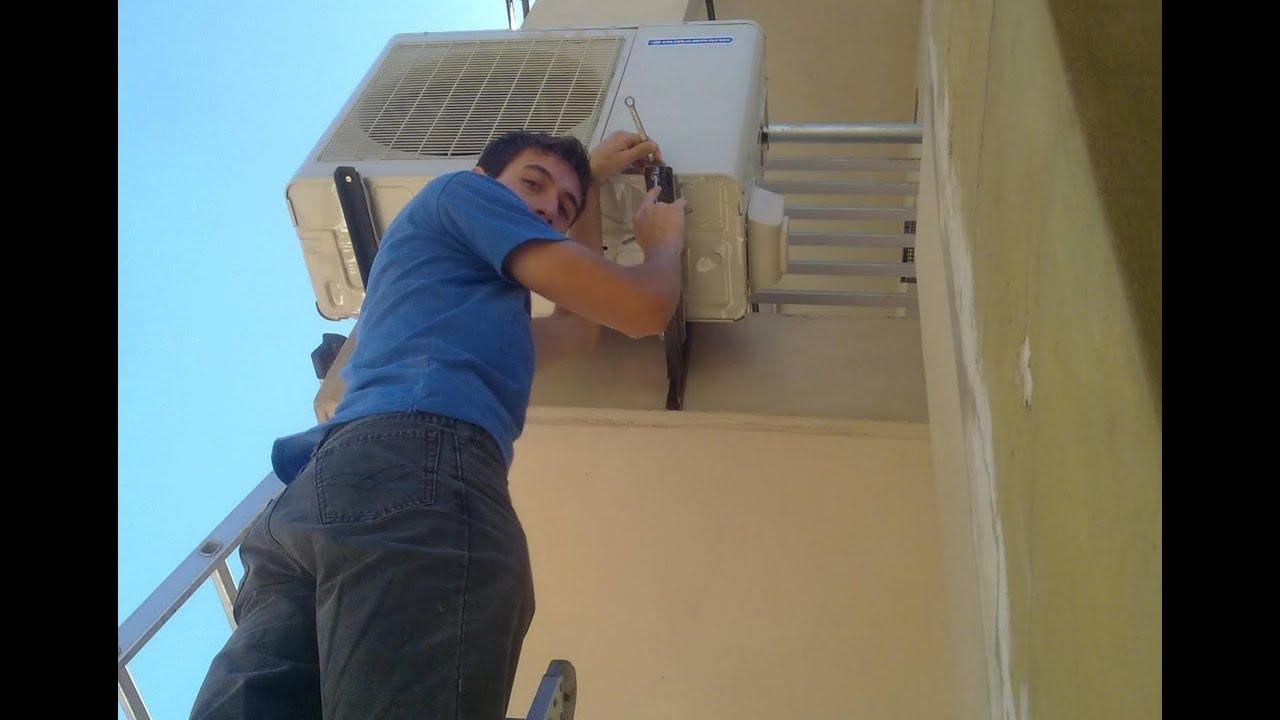 instalaci n aire acondicionado split en edificio youtube