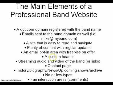 DIY Band Websites | What's Professional?