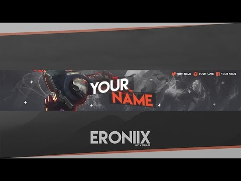YouTube Banner Template | League Of Legends [Free]