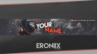 YouTube Banner Template   League of Legends [Free]