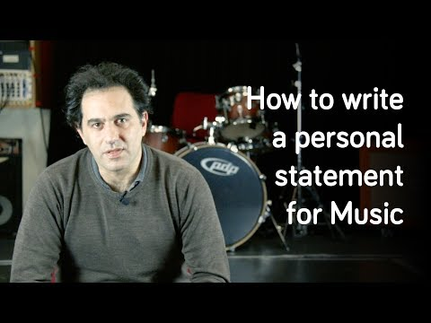 How To Write A Personal Statement For Music