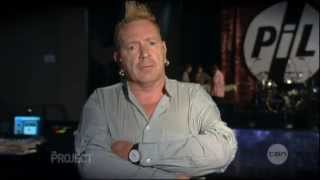 Johnny Rotten interview on The Project (2013) - Australia