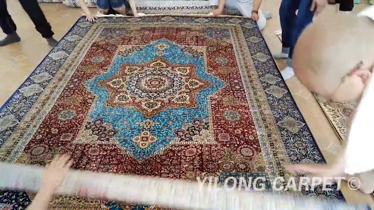 Chinese Silk Rug On Sale Persian Handmade Carpet 09 Youtube