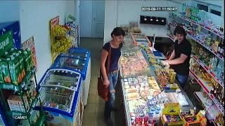 Комплект видеонаблюдения AHD для магазина.  Пример записи(, 2015-09-21T08:54:00.000Z)