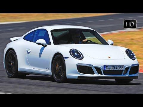 2018 Porsche 911 Carrera 4 GTS Coupe White Exterior Design & Racetrack Drive HD