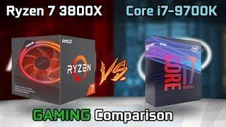 Intel i7 9700K vs AMD Ryzen 7 3700X Cinebench R20 Benchmark