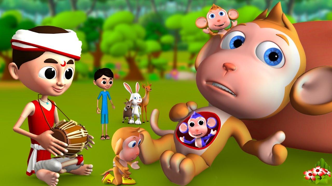 கர்ப்பிணி குரங்கு - Pregnant Monkey Tamil Story | 3D Moral Stories | JOJO TV Short Stories