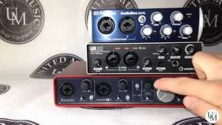 Обзор звуковых карт. Focusrite Scarlett 2i4. Steinberg UR22. PreSonus Audiobox 22vsl - UM Test 01