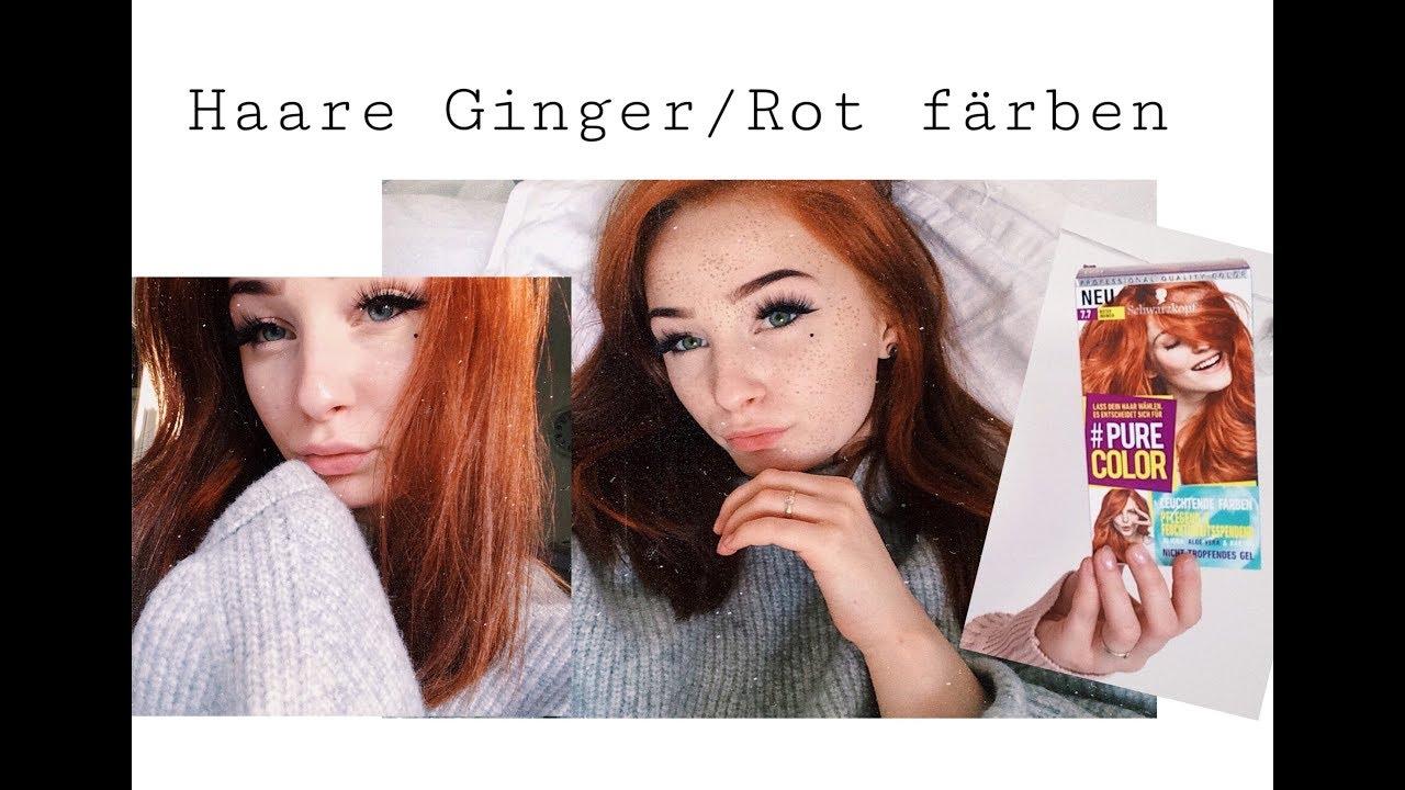 Review Schwarzkopf Purecolor Ginger Haare Rote Haare Färben Youtube