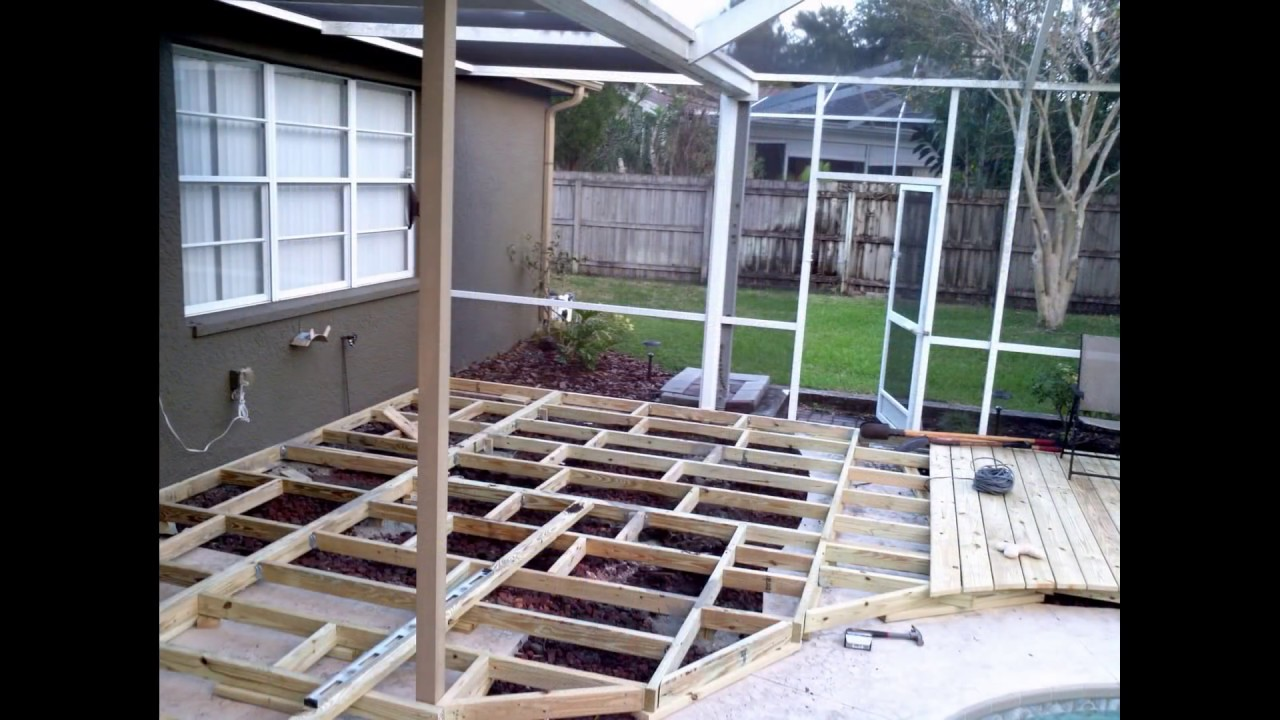 Ideas On How To Build A Custom Wood Deck Around Your In Ground Swimming Pool Youtube