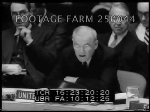 1956 UN Security Council Discussion of Suez Canal Crisis - 250044-14 | Footage Farm Ltd