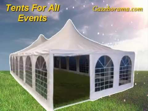 10 x 30 Heavy Duty White Gazebo Party Tents & 10 x 30 Heavy Duty White Gazebo Party Tents - YouTube