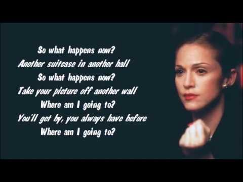Madonna - Another Suitcase In Another Hall Karaoke / Instrumental with lyrics on screen