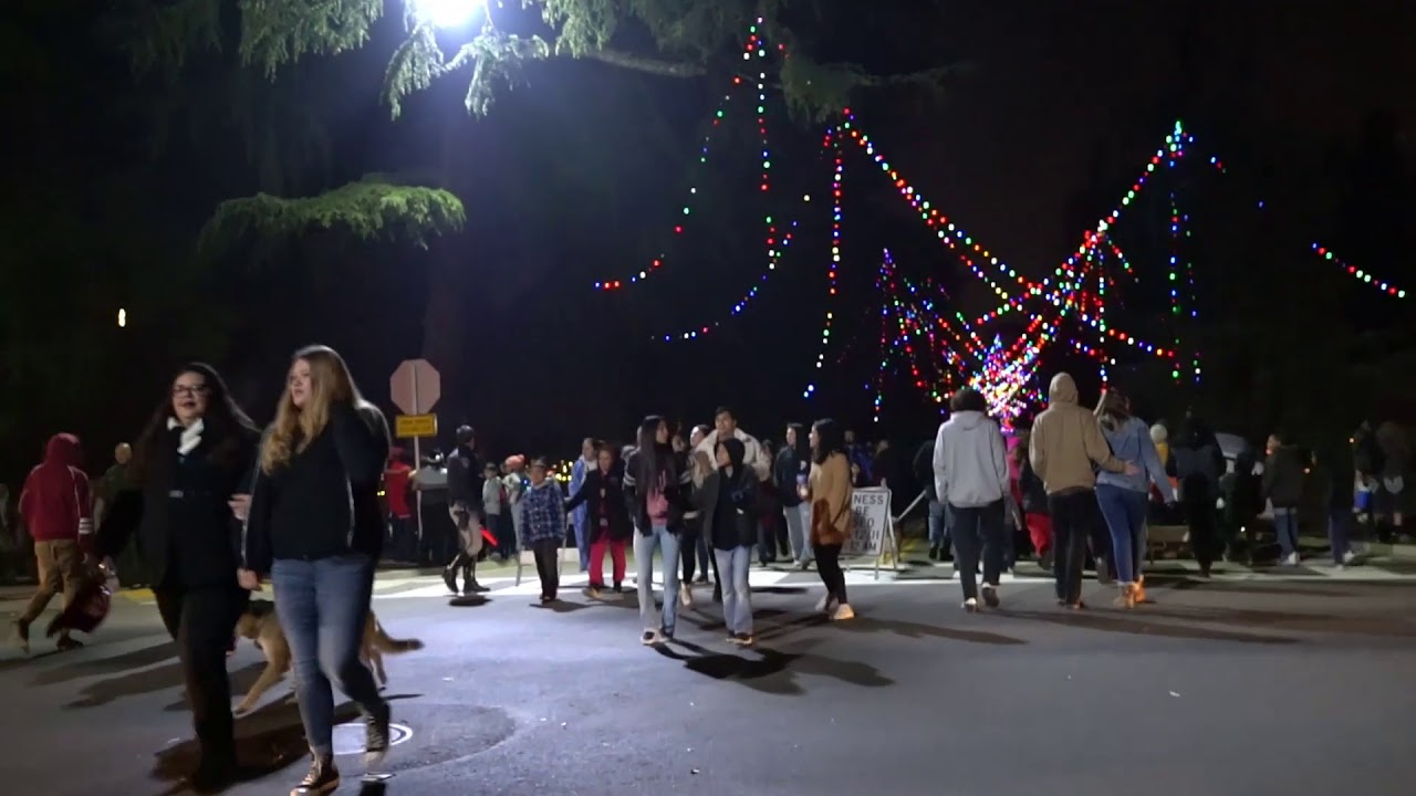 Christmas Tree Lane Fresno.Fresno Christmas Tree Lane 2018 A Walk Night