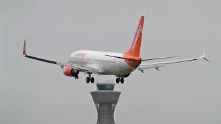 Sunwing Boeing 737-800s at Newcastle International Airport Summer 2019