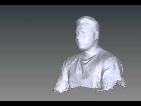 3-D model of a human subject, using Kinect Fusion