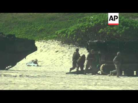 Japan joins US and other countries storming Hawaii beach during maritime exercises