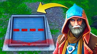 The WIZARD PORTALS in WAILING WOODS (Fortnite Secret Bunker)