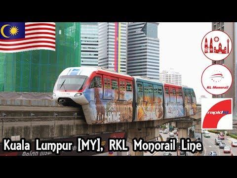 Kuala Lumpur, Malaisie Malaysia [MY] Ligne de monorail Rapid KL sur Jalan Sultan Ismail