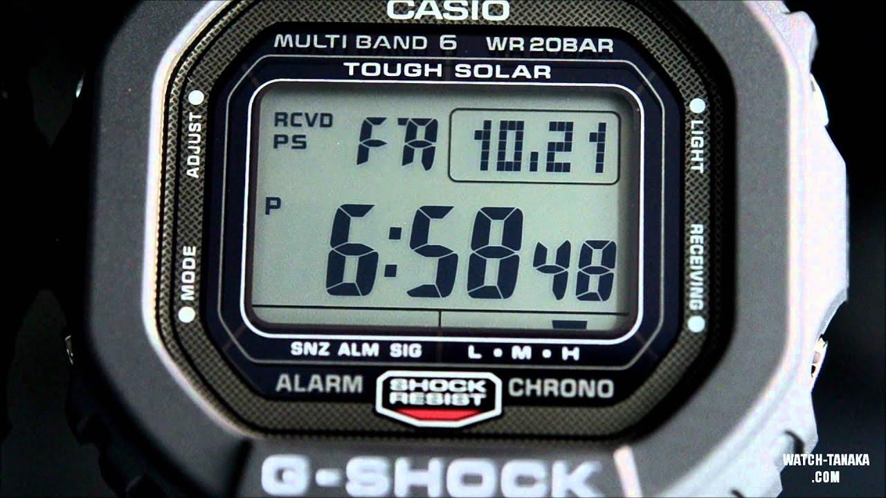 3443458278 CASIO G-SHOCK GW-5000-1JF タフソーラー マルチバンド6 - YouTube