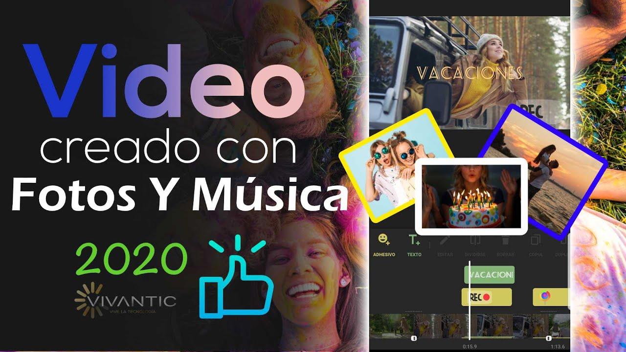 TOP 5 Apps: Hacer videos con Fotos y Música de Fondo - ANDROID & iPhone 2021 (Cumpleaños | Amor)