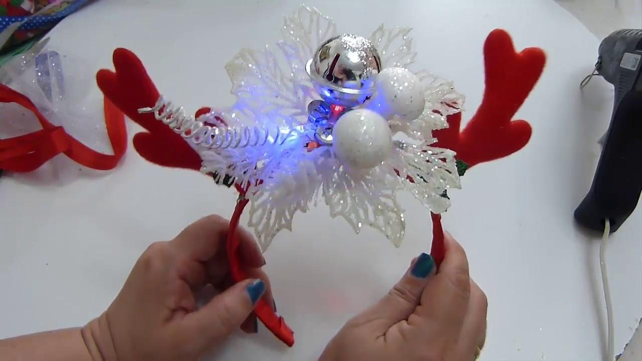 Como decorar una diadema navidad para ni as accesorios for Accesorios para decorar en navidad