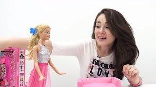 Собираем #Барби на ВЫПУСКНОЙ БАЛ: делаем прическу и выбираем платье для Барби! Мультики для девочек