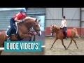 Reageren op oude paardrijd video's!