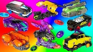 Машинки трансформеры Дикие Скричеры. Крутые баттлы и восемь участников.